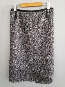 Talbots grosgrain ribbon tweed boucle pencil skirt